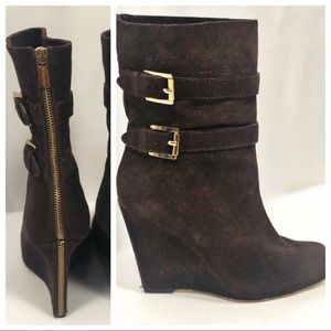 Michael Kors Suade Brown Booties 71/2